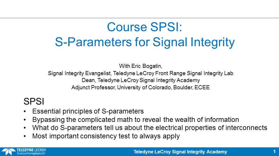 beTheSignal - S-Parameters for SI